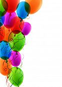 picture of confetti  - Celebration colorful background with balloons and confetti - JPG