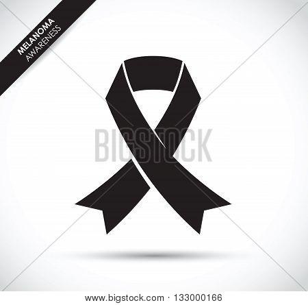 a black melanoma cancer awareness ribbon image