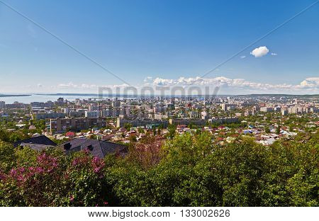 View of Saratov from an observation deck from Victory park