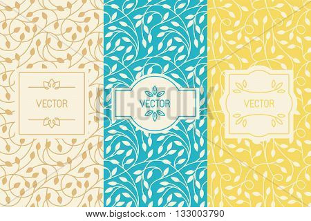 Vector Set Of Design Elements, Borders And Frames, Seamless Patterns