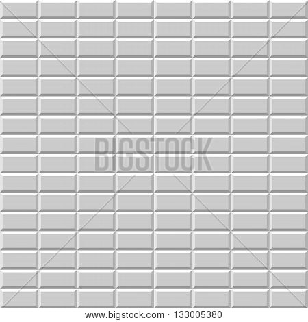 Seamless pattern with grey rectangular tiles. Tiled surface