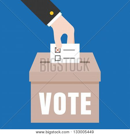 Vote illustration, Vote for election concept vector, flat design