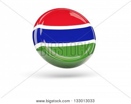 Flag Of Gambia. Round Icon