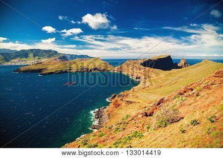 Coastline At The Ponta De Sao Lourenco