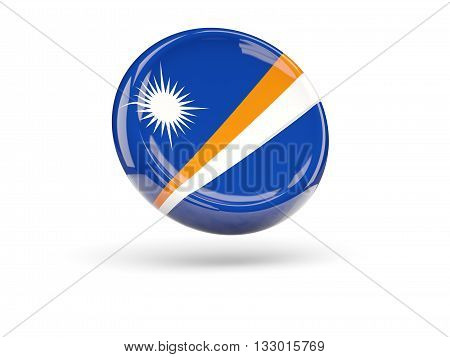 Flag Of Marshall Islands. Round Icon