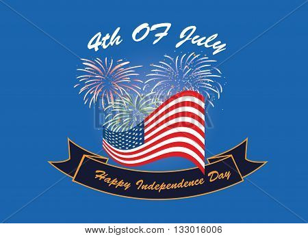 American Independence day 4th of July event banner logo background greeting card. vector eps 10