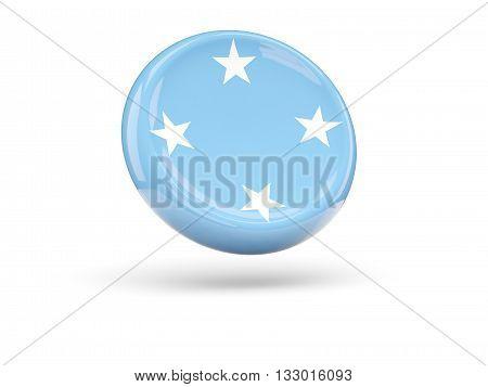 Flag Of Micronesia. Round Icon