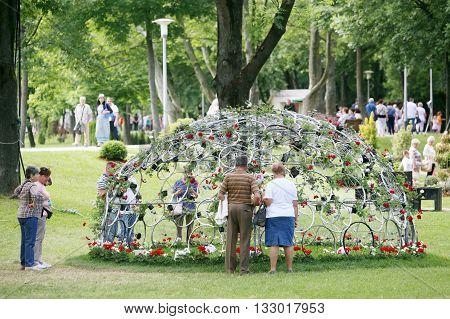 Flower Installation At Bundek Park
