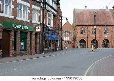 SANDBACH, UK - MAY 29, 2016: Sandbach market town centre, Sandbach, Cheshire, UK