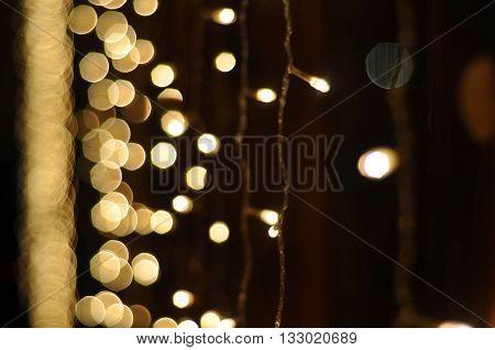 garland, bright light garlands, festive mood, window decoration