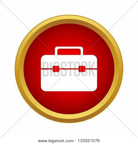 Brief case Icon in simple style isolated on white background