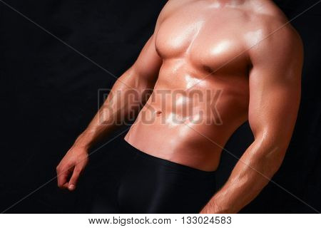 Strong man with a helathy body