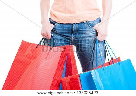 Shopping Spree Concept With Female Holding Shopping Bags