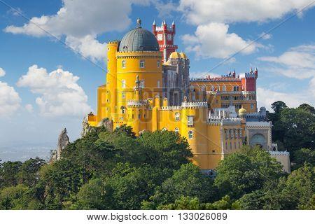Fantastic National Palace of  Pena  - Sintra, Lisbon, Portugal, Europe