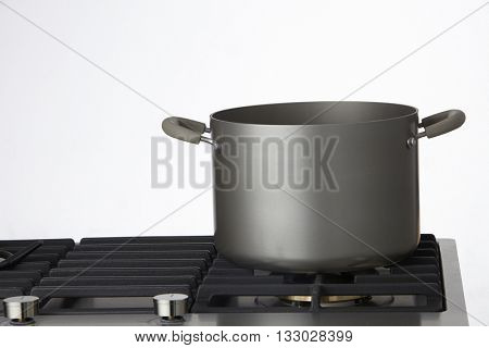 cooking pot on the gas stove