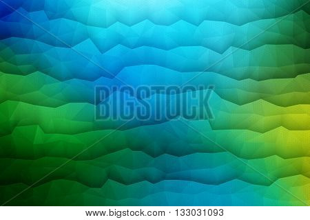 Abstract 3d vector geometrical waveform bright background for design, business, print, web, ui and other