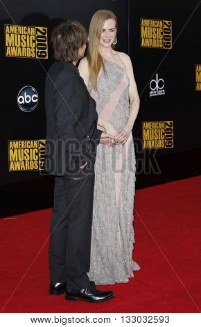 Keith Urban and Nicole Kidman at the 2009 American Music Awards held at the Nokia Theater in Los Angeles, USA on November 22, 2009.