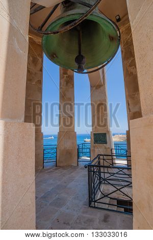 Siege Bell War Memorial in Valletta on the Malta island