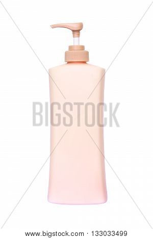 lotion bottle isolated on white color backgrond