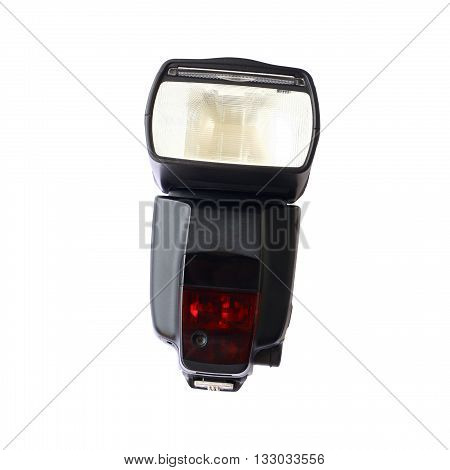 flash camera isolated on white color background
