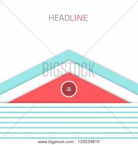 Material design background. Flat design layout. Abstract shape material design. Modern design. Vector flat background.