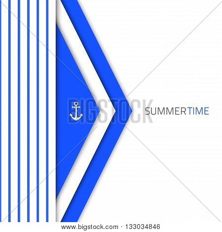 Vector material design background. Flat design layout. Abstract shape material design. Vector blue modern design. Summer material design concept.