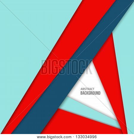 Material design background. Flat design layout. Abstract shape material design. Vector flat background. Fashion red background