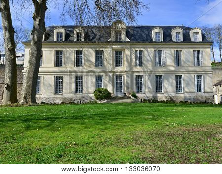 Conflans Sainte Honorine France - april 4 2016 : the Themericourt castle