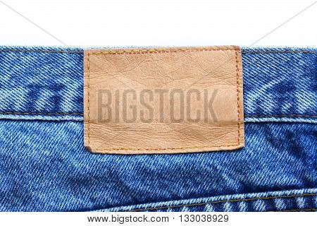 jeans label isolated on white color backgrond