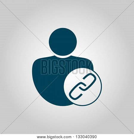 User Link Icon In Vector Format. Premium Quality User Link Symbol. Web Graphic User Link Sign On Gre