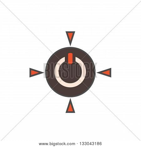 Power button vector icon. Colored line illustration of button for switching on
