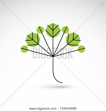 Spring Tree Leaf, Botany And Eco Flat Image. Vector Illustration Of Herb, Natural And Ecology Elemen