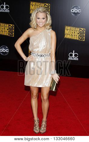 Carrie Underwood at the 2009 American Music Awards held at the Nokia Theater in Los Angeles, USA on November 22, 2009.