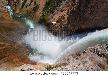 The Lower Falls on the Yellowstone River ( Yellowstone National Park Wyoming)