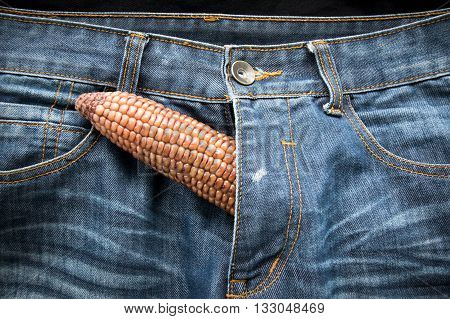 Penis Symbol - The Corn On Jeans