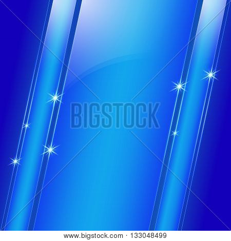 Vector abstract colored shining blue metallic background diagonal plate