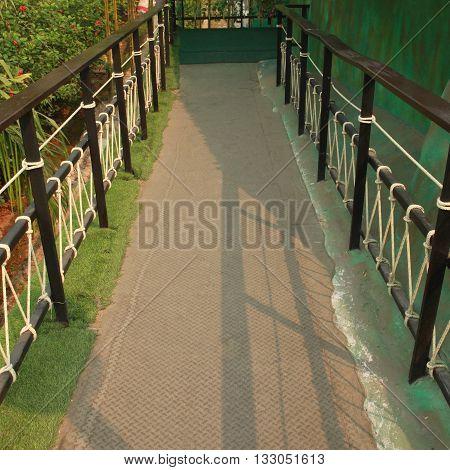 The Walk way in the green garden