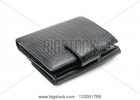 Leather purse isolated on white background