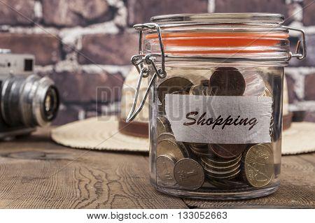 Shopping Savings Jar