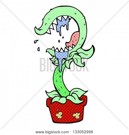 freehand drawn cartoon carnivorous plant