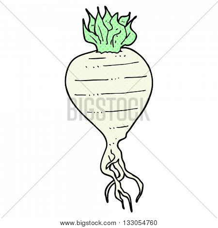 freehand drawn cartoon turnip