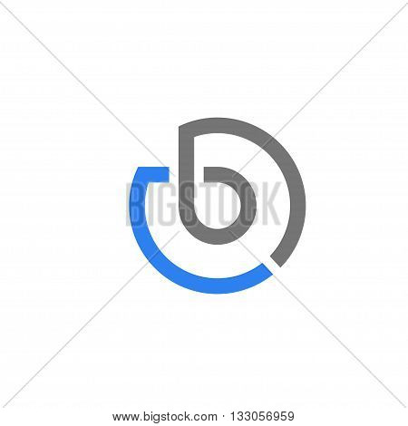 letter B circle concept design logo vector