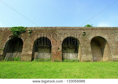 THE RAMPARTS  OF MONTREUIL ON SEA, PAS DE CALAIS, THE NORTH OF FRANCE, CITADEL