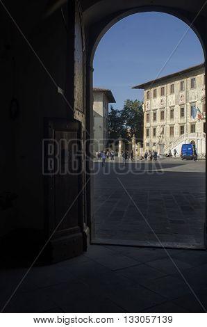Pisa Italy - October 22 2015: The Scuola Normale of Pisa