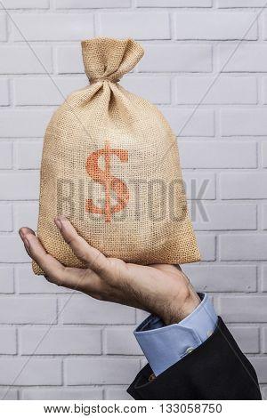 Money Sack Red Dollar
