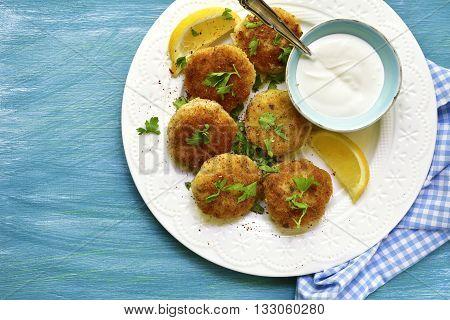 Fish Croquettes.