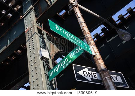 Street Signs For Brighton Beach Avenue