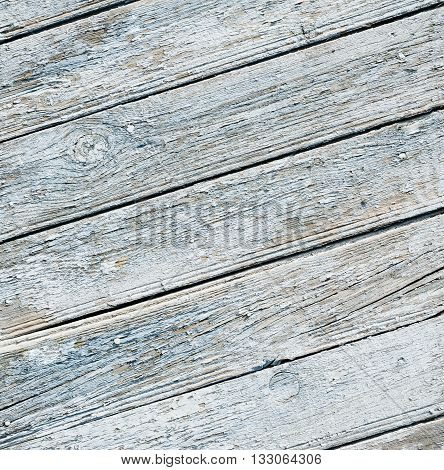 Wooden boards as a background. The texture of the fence. Vintage effect. Wooden planks blue diagonally. old peeling paint