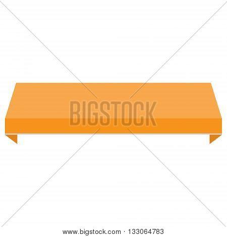Vector illustration orange shopstore window awning. Awning canopy icon