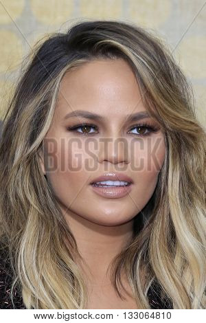 LOS ANGELES - JUN 4:  Chrissy Teigen at the 10th Annual Guys Choice Awards at the Sony Pictures Studios on June 4, 2016 in Culver City, CA